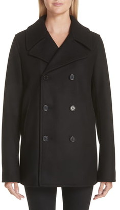 Saint Laurent Wool Peacoat