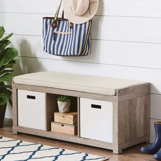 Better Homes & Gardens Better Homes and Gardens 3-Cube Organizer Storage Bench, Multiple Finishes