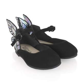 Sophia Webster MiniGirls Black Suede Butterfly Shoes