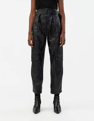 Low Classic Down Pocket Pant in Coated Black