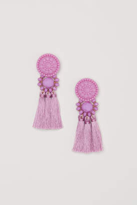 H&M Earrings with Tassels - Purple