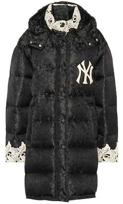 Gucci NY Yankees jacquard puffer coat