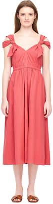 Rebecca Taylor La Vie Crinkle Shadow Stripe Dress