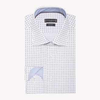 Polka Dot Print Poplin Shirt