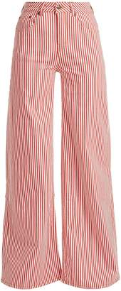 ROCKINS Mega Loon high-rise striped jeans