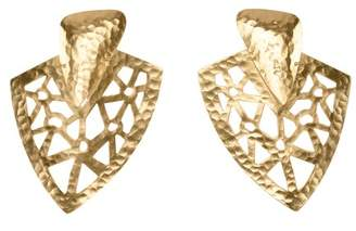 Josie Natori Goldplated Brass Cutout Earrings