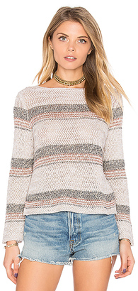 Autumn Cashmere Chevron Crop Sweater in Taupe $165 thestylecure.com