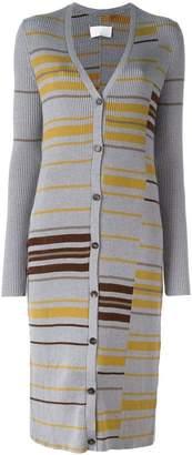 Maison Margiela striped long cardigan