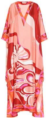 Emilio Pucci Printed silk-twill maxi kaftan