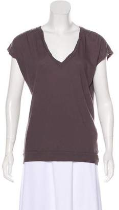 Velvet Sleeveless V-neck Top
