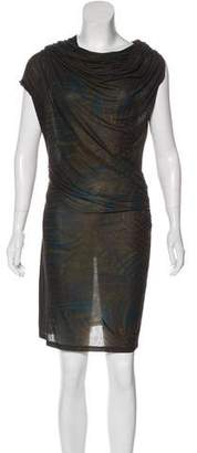 Lanvin Printed Draped Dress