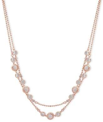 Anne Klein Rose Gold Plated 'Spotlight' Crystal Strand Necklace