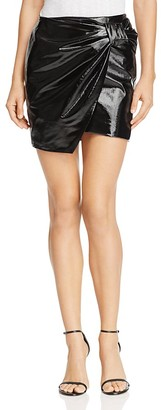 Sunset & Spring Faux Patent Leather Wrap Skirt - 100% Exclusive