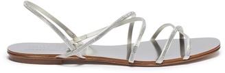 Pedro Garcia 'Esme' Swarovski crystal strappy satin sandals