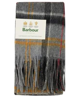 Barbour Merino Cashmere Tartan Scarf Colour: GREY, Size: One Size