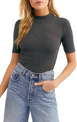 Free People Good Vibes Ribbed Top