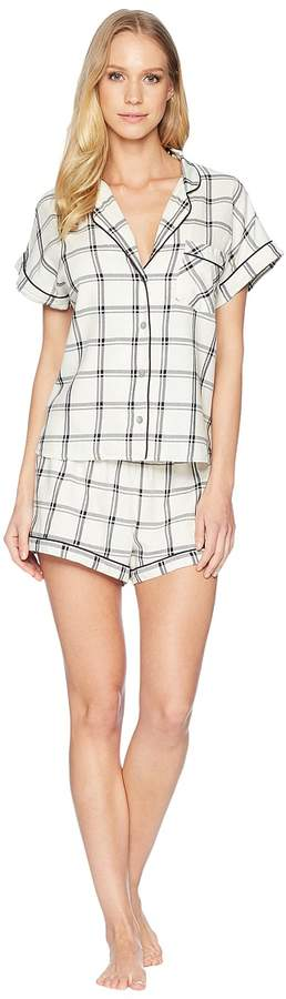 Amelia Woven Plaid PJ Set Women's Pajama Sets