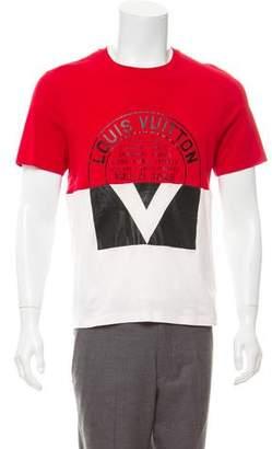 Louis Vuitton Graphic Logo Crew Neck T-Shirt