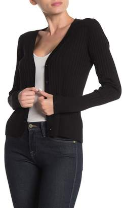 525 America Fitted Ribbed Knit Cardigan