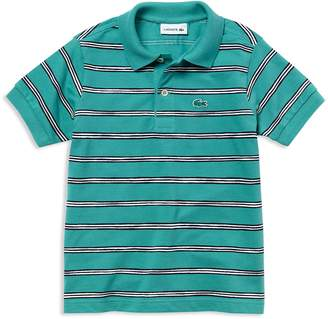 Lacoste Boys' Mini-Stripe Pique Polo