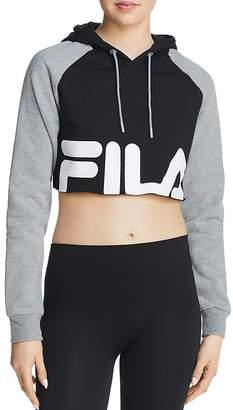 Fila Luciana Logo Cropped Hooded Sweatshirt