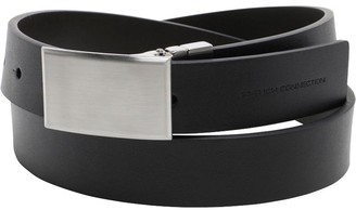 French Connection Mens Plaque Buckle Belt Black/Brown