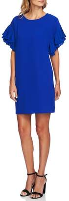 CeCe Tiered Pleated Crepe Shift Dress