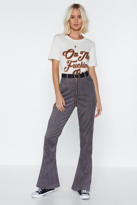 Nasty Gal Zip the Scales Cord Pants