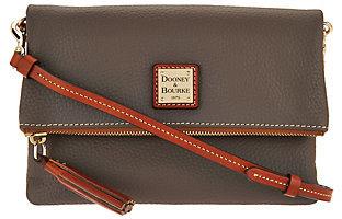 As Is Dooney & Bourke Pebble Leather Foldover Zip Crossbody $113 thestylecure.com