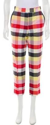 Thom Browne Plaid Mid-Rise Pants