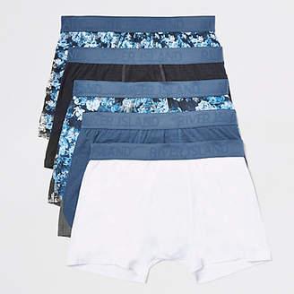 River Island Blue floral trunks multipack