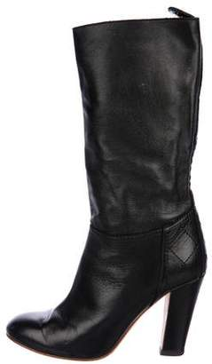 Chanel Leather Mid-Calf Boots