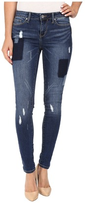 Calvin Klein Jeans Leggings in Patchwork Indigo $79.50 thestylecure.com