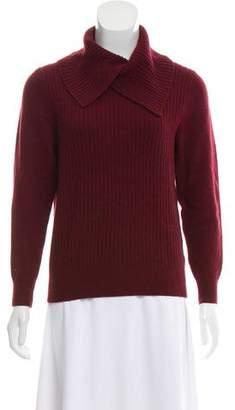 Ganni Wool-Blend Rib Knit Sweater