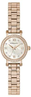 BCBGMAXAZRIA Women's Rose Gold Case Light Mother Of Pearl Dial Rose Gold Bracelet Watch