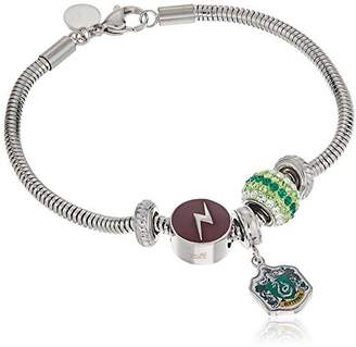 Harry Potter Stainless Steel Slytherin House Hogwarts Beaded Bundle Charm Bracelet