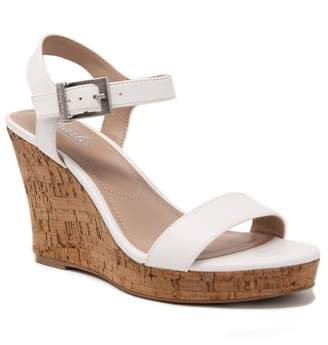 Charles by Charles David Lindy Faux Leather Wedge Sandal