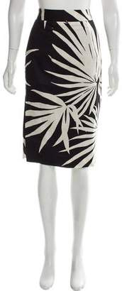 Milly Printed Knee-Length Skirt