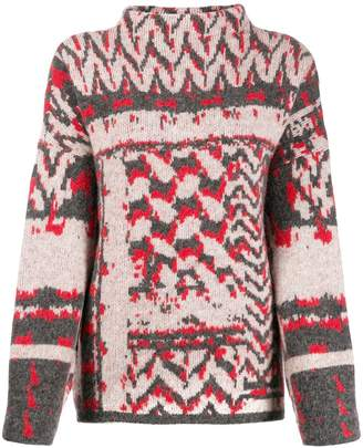 Lala Berlin jacquard print roll-neck sweater