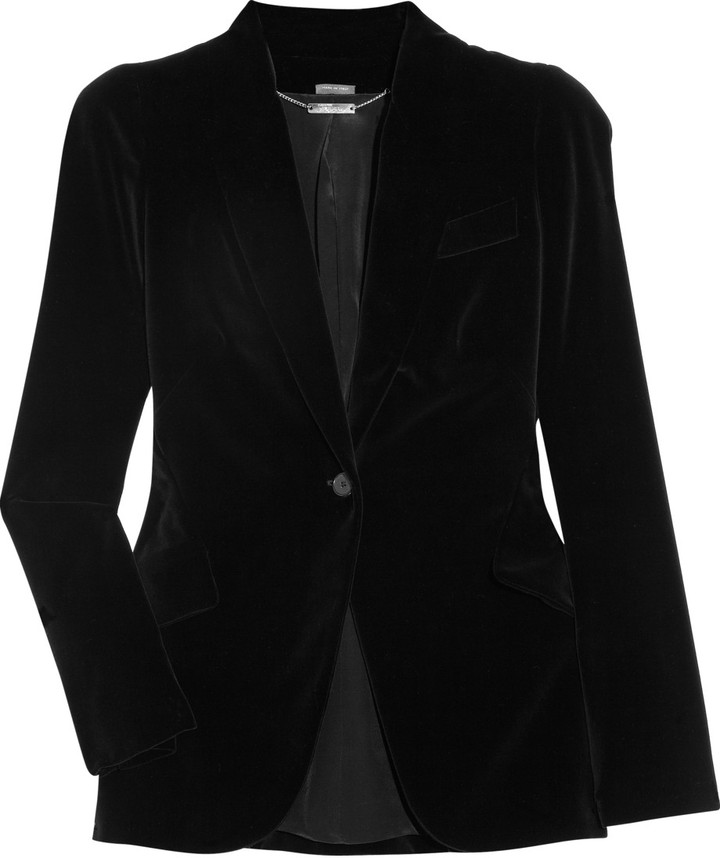 Alexander McQueen Cotton and silk-blend velvet blazer