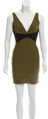 Herve Leger Kayitlyn Bandage Dress Olive Kayitlyn Bandage Dress