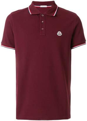 Moncler tri-stripe trim polo shirt