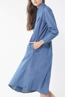 House Of Sunny Western Denim Midi Shirt Dress