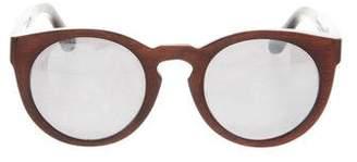 Illesteva Round Mirrored Sunglasses