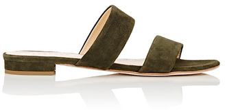 Barneys New York Women's Double-Band Slides $195 thestylecure.com