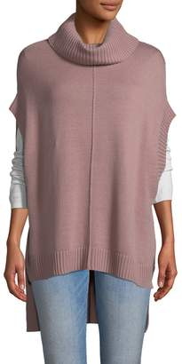 BCBGMAXAZRIA Women's Corina Turtleneck Poncho-Style Sweater