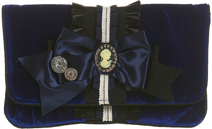 Premium Velvet Bow Clutch Bag