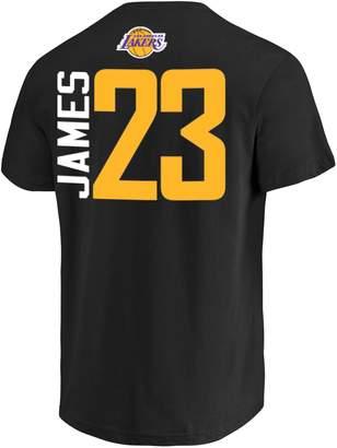 Nba Men's Los Angeles Lakers Lebron James Name & Number Tee