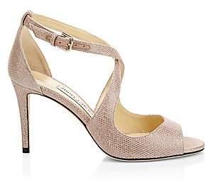 Jimmy Choo Women's Emily Shimmer Suede Sandals