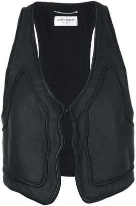 Saint Laurent trim detail waistcoat